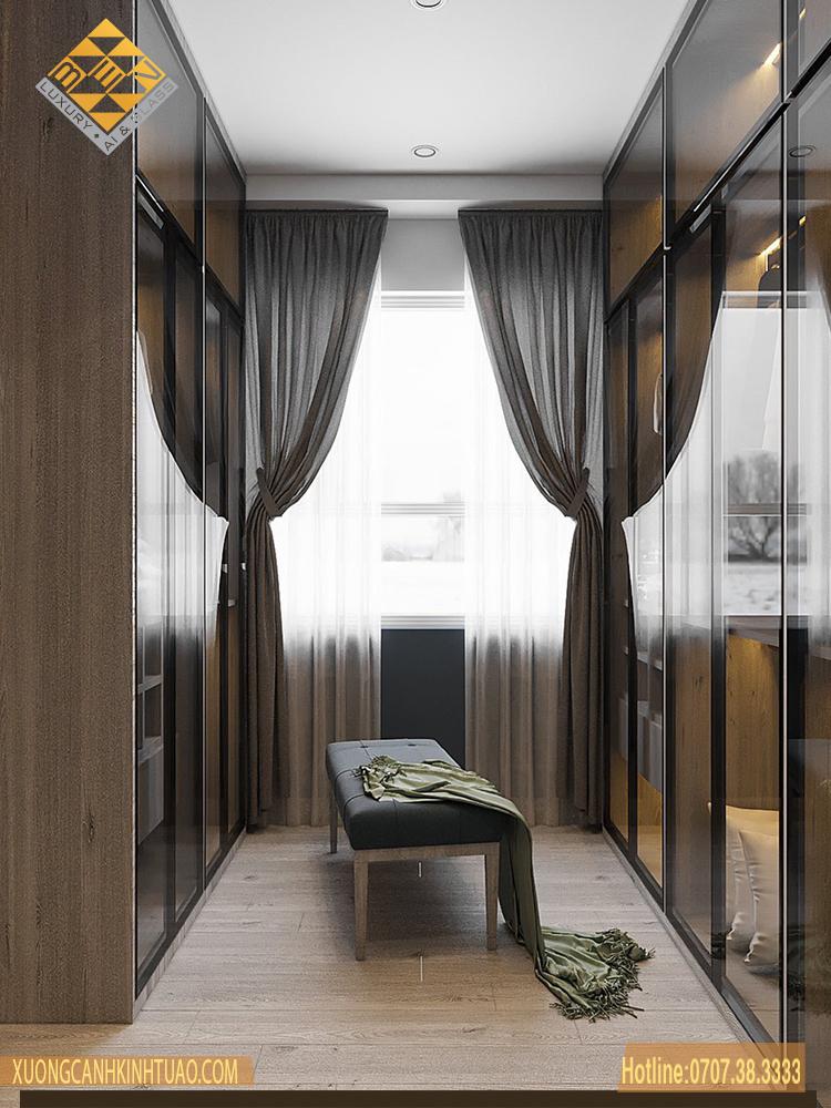 Cánh kính tủ áo nội thất - Xu thế phong cách mới đẳng cấp